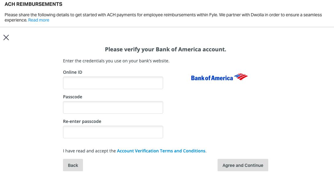 verify bank account under ACH