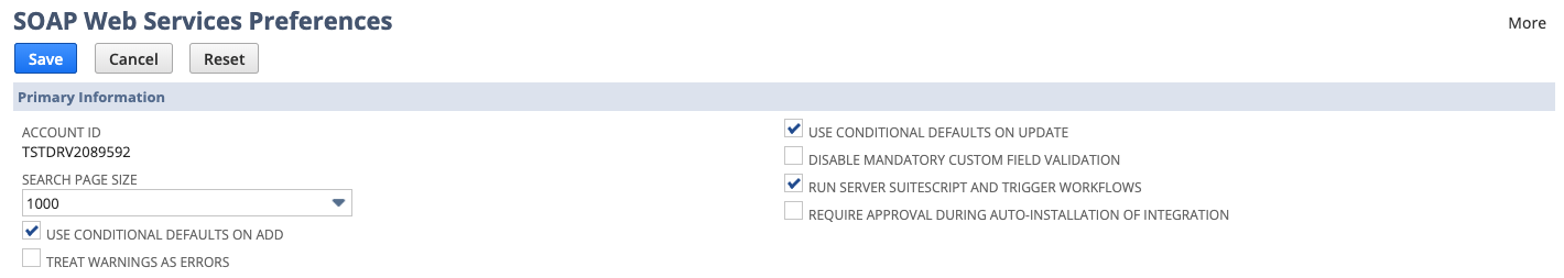 Account ID under SOAP Web Service Preferences