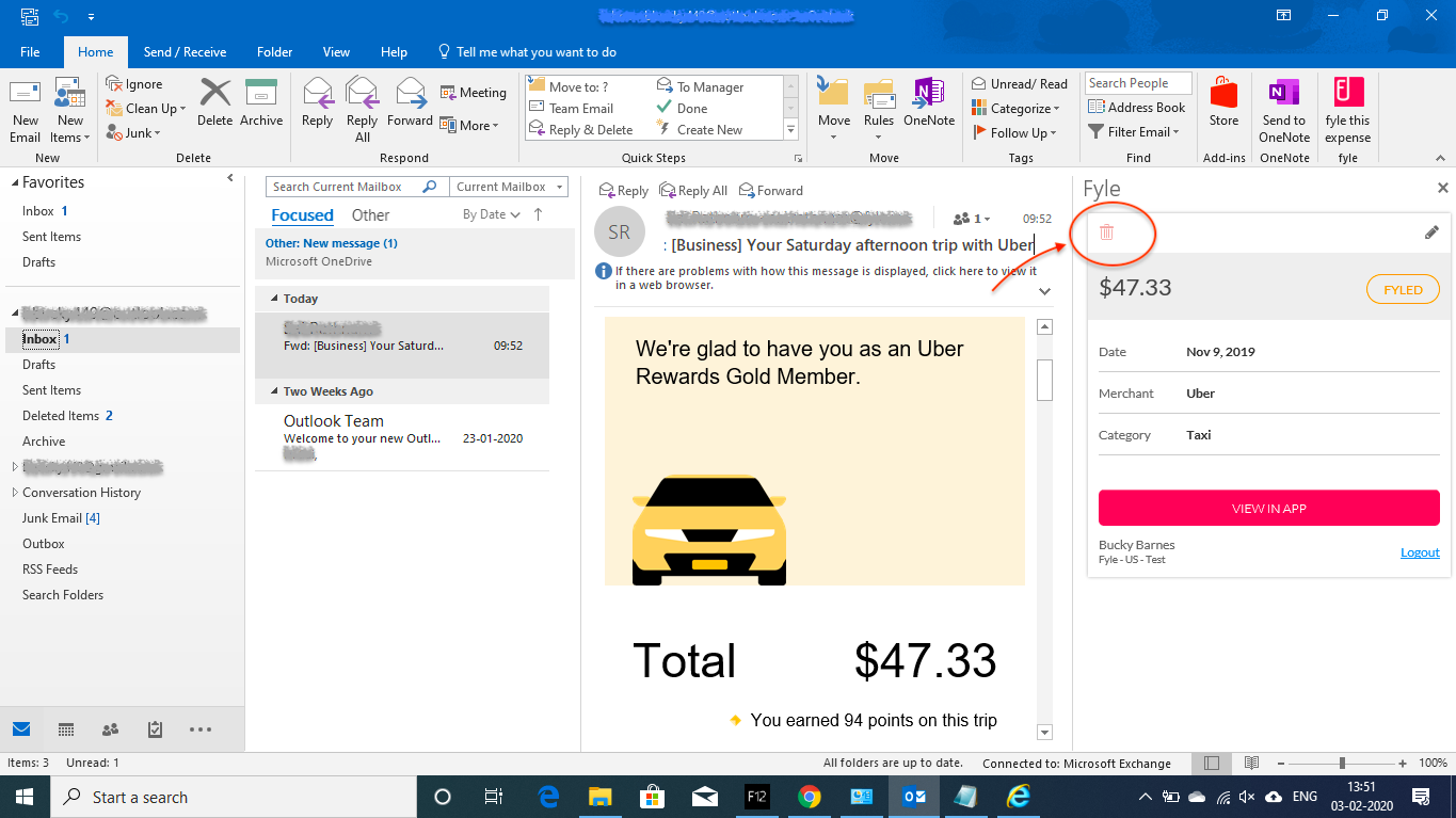 Deleting expenses created via Fyle Add-in
