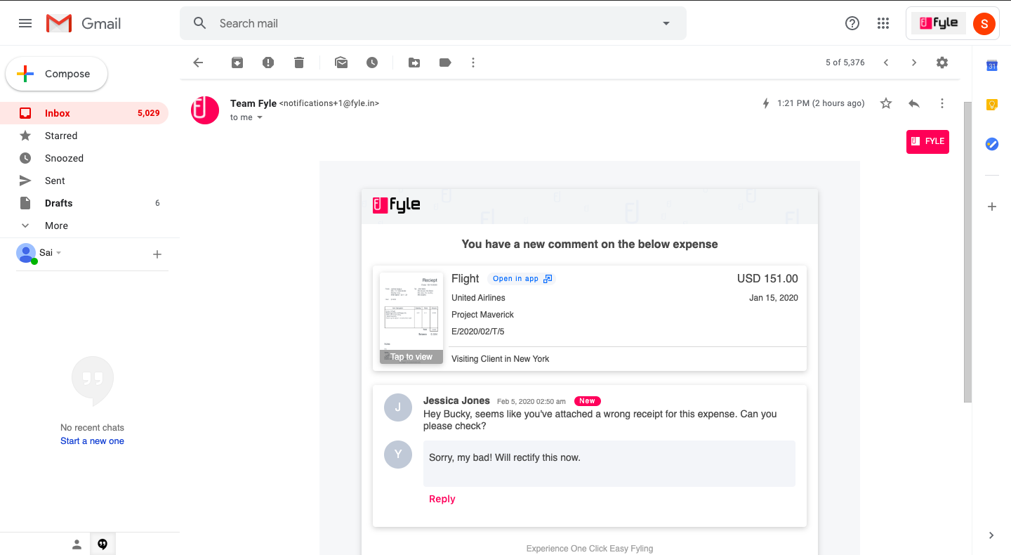 Responding to comments with dynamic email
