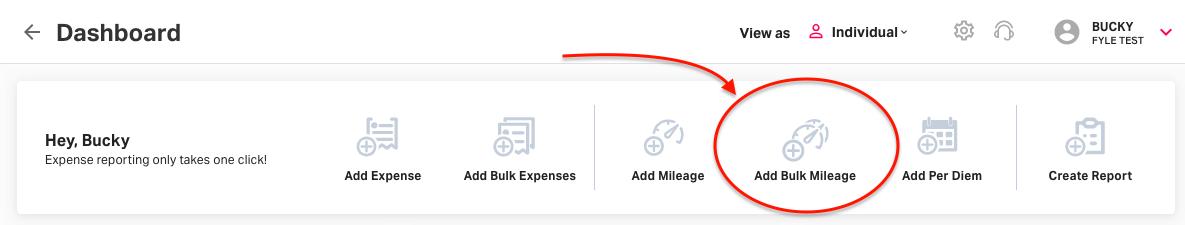 Adding mileages in Bulk on Fyle
