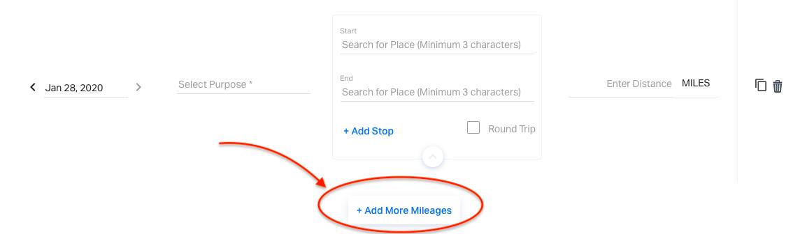 Adding more mileage in Bulk Mileage