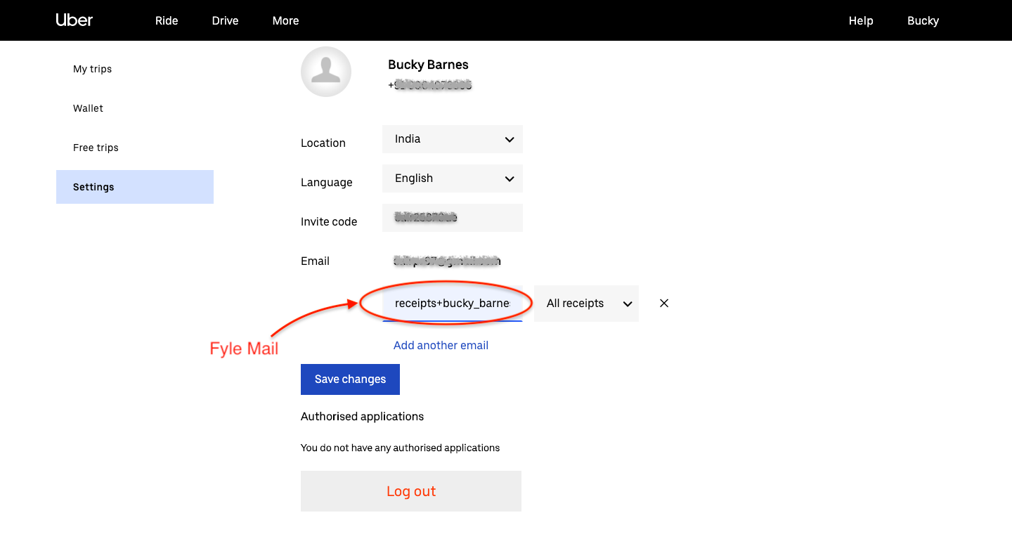 Automating expense creation for Uber receipts using Fyle Mail