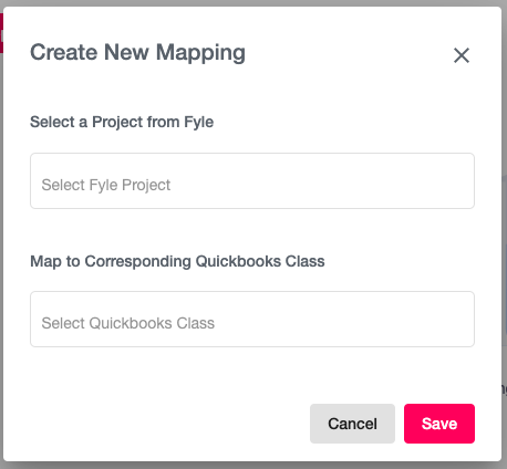 Create Project Mappings