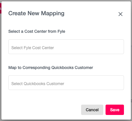 Create Cost Center Mappings
